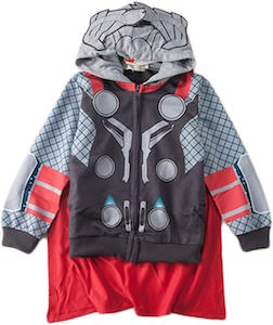 Kids Thor Costume Hoodie With Cape