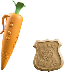 Zootopia Judy's Carrot Record And Police Badge