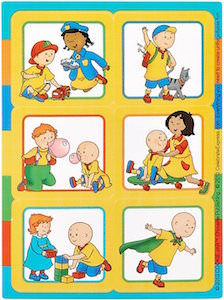 Caillou Sticker Sheets