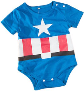 Captain America Baby Costume Bodysuit