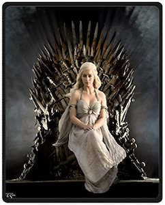 Game of Thrones Daenerys Targaryen On The Throne Blanket