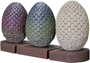 Game of Thrones Dragon Egg Bookends for sale