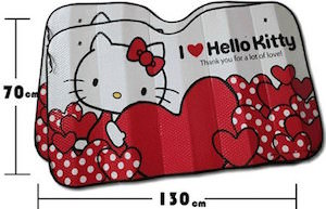 I Love Hello Kitty Car Sun Shade