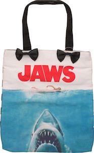 Jaws Movie Poster Tote Bag