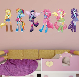 My Little Pony Equestrian Girls Wall Decal Set