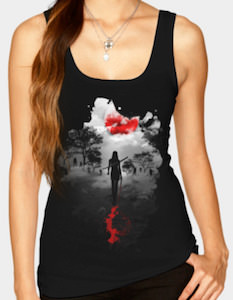The Walking Dead Michonne Hunting At Night Tank Top