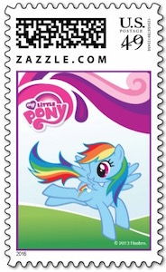 MLP Rainbow Dash Postage Stamp