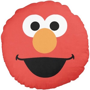 Round Elmo Face Pillow