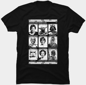 Star Wars Galactic High Class Photo T-Shirt