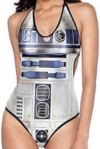Star Wars R2-D2 Women's Halter Top Swimsuit