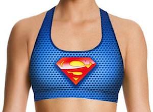 Superman And Supergirl Sports Bra