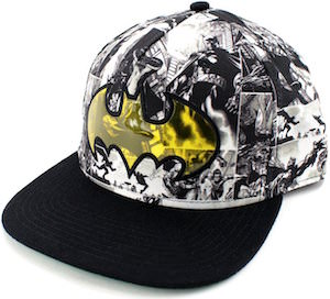 Batman Comic Snapback Hat With Logo