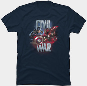 Captain America And Iron Man Civil War T-Shirt
