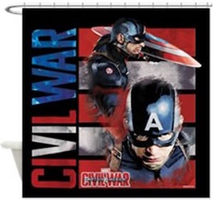 Captain America Civil War Shower Curtain