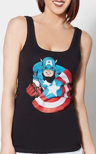 Captain America And His Shield Women's Tank Top