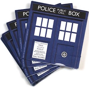 Doctor Who Blue Tardis Napkins