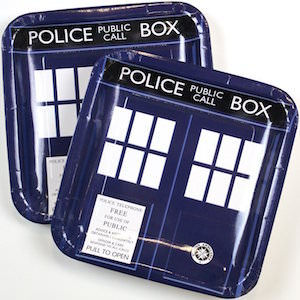 Doctor Who Tardis Paper Plates