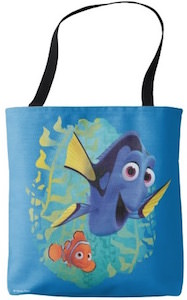 Finding Dory Tote Bag With Dory And Nemo