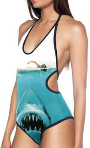 Jaws Movie Poster One Piece Swimsuit