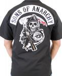 Sons Of Anarchy Reaper Logo Work Shirt