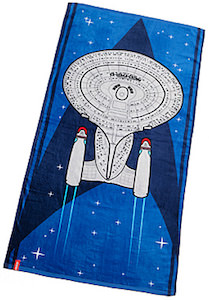Star Trek Blue Beach Towel