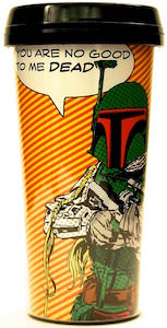 Star Wars Boba Fett Cartoon Style Travel Mug