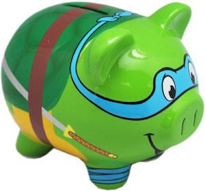TMNT Leonardo Piggy Bank