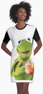 Kermit Drinking Tea Dress