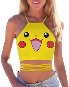 Pokemon Yellow Pikachu Crop Top