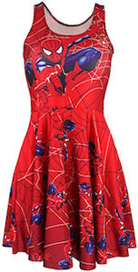 Women's Red Spider-Man Dress