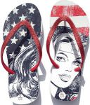 Wonder Woman US flag Flip Flops