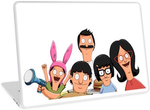 The Bob's Burgers Family Laptop Decal