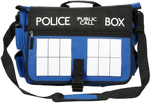 Doctor Who Tardis Doors Messenger Bag