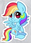 My Little Pony Young Rainbow Dash Sticker