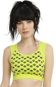 Star Wars Rebel Logo Yellow Sports Bra