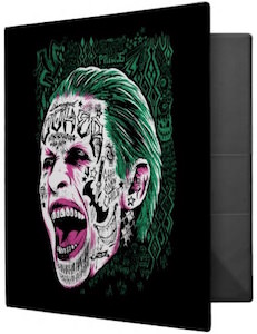 Laughing Joker Head Avery Binder