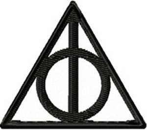 Harry Potter Deathly Hallows Clothing Patch