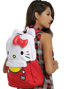 Hello Kitty Back Pack With Laptop Sleeve