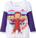 Kids Curious George Long sleeve t-shirt