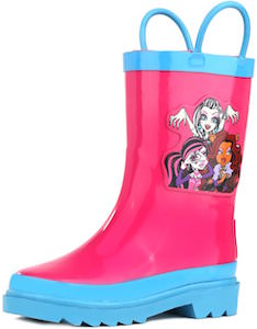 Pink And Blue Monster High Rain Boots