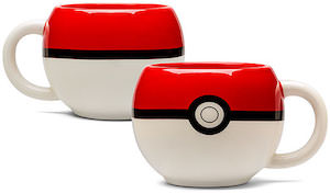 Pokemon Mug Shaped Like Poke Ball