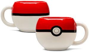 Pokemon Mug Shaped Like Poke Ball