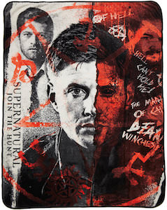 Supernatural Castiel And Dean Fleece Blanket