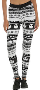 The Nightmare Before Christmas Leggings with Jack Skellington