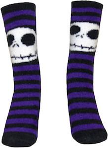 Jack Skellington Black And Purple Striped Socks
