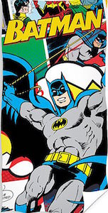 Comic Style Batman Beach Towel