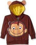 Curious George Face Hoodie For Kids