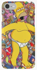 Homer Beer And Food Coma iPhone Case