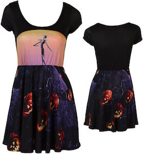 Jack Skellington And Pumpkins Skater Dress