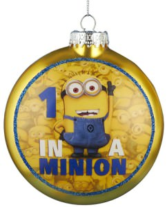 One In A Minion Christmas Ornament